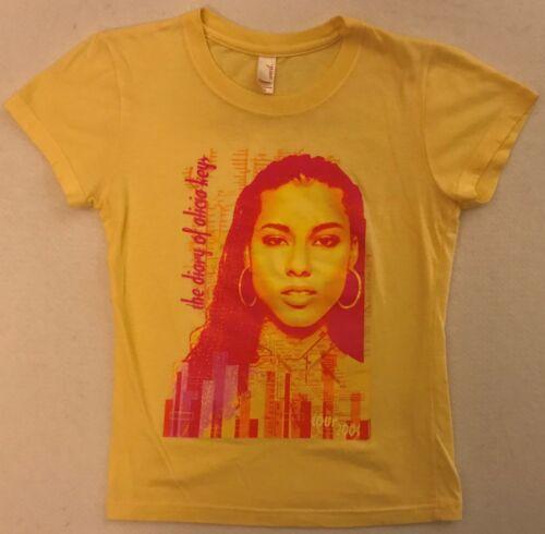 ALICIA KEYS The Diary Of... Junior Size Small Yellow T-Shirt