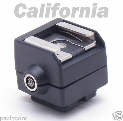 New SC2 Flash Hot Shoe PC Sync Socket Adapter for Camera Canon Nikon