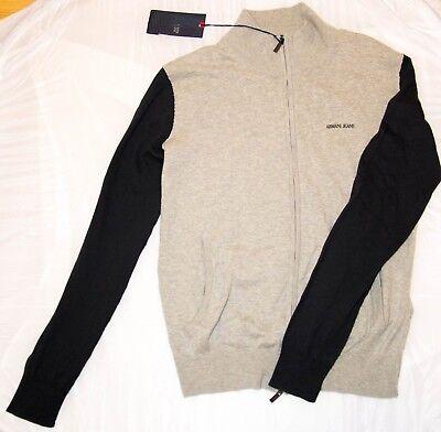 Armani Jeans Men`s Knit Zip Sweater Size XL MSRP $135