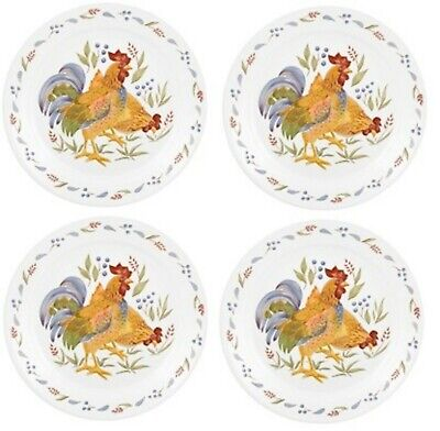 New! Set of 4 Corelle Country Morning 10.25