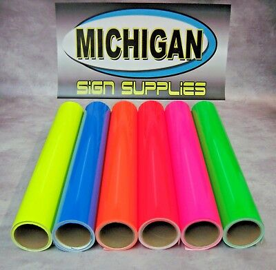 Cast Fluorescent Vinyl-Great for Decals, Race Cars & More!-6 Colors Available!! - Color Race Cars