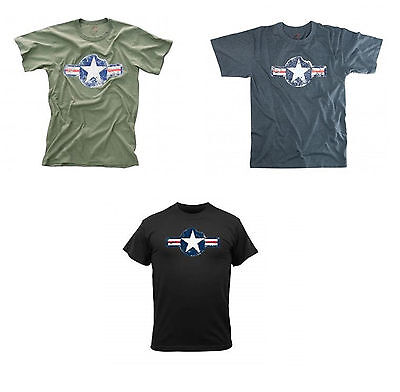 US Air Force T-shirt Vintage Retro WWII USAF Army Air Corps Green Blue Black Army Air Corp Blue T-shirt