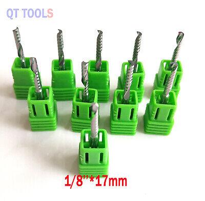 10pcs 18carbide Single Flute Spiral Flat Nose End Mill Cnc Router Bits Right