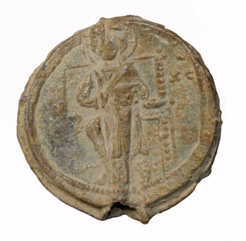 Byzantine Empire Alexius I Comnenus 1081-1118 AD Lead Seal Christ Pantokrator