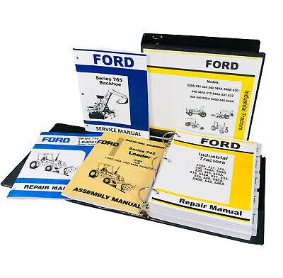 Ford 340a 540a Tractor 745 Loader 765 Backhoe Service 3 Manual Set Shop Repair