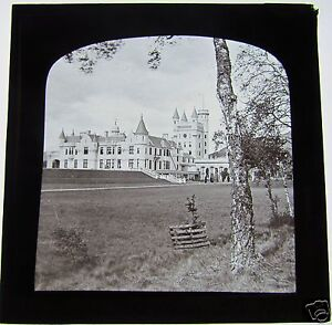 Glass-Magic-Lantern-Slide-BALMORAL-CASTLE-SCOTLAND-C1900-BRITISH-ROYALTY