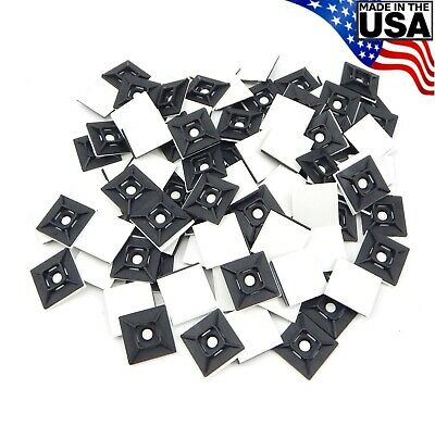 Zip Cable Tie Adhesive Mounting Base Pad 1 100pc Made In Usa Mount