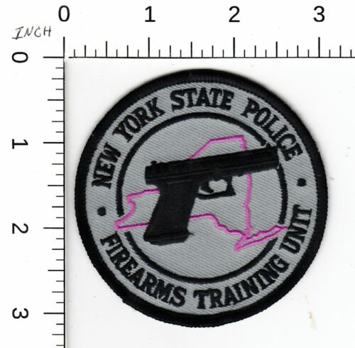 NEW YORK STATE POLICE * FIREARMS TRAINING UNIT  COLLECTIBLE EMBROIDERED PATCH NY
