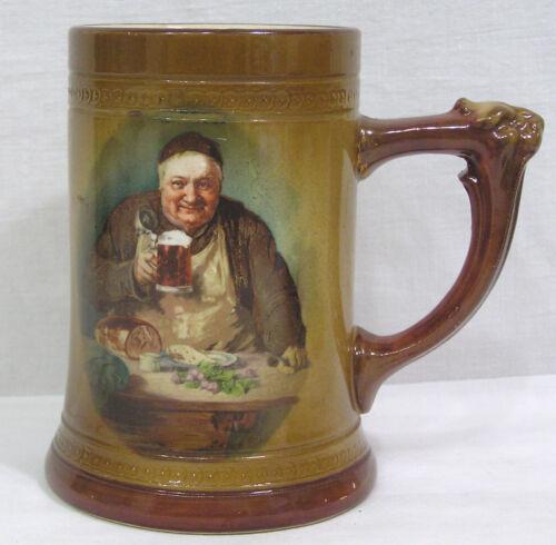 """Vtg Monk Friar Mug Holds Beer Table of Food 5 1/2"""""""