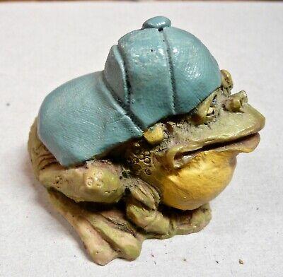 1990 Frumps Freddie Frog in Baseball Cap Resin Figurine D&D Studios