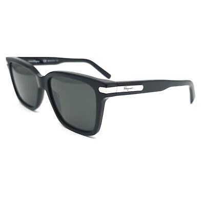 Salvatore Ferragamo Sunglasses SF917S 001 Black Rectangle Men 55x18x140