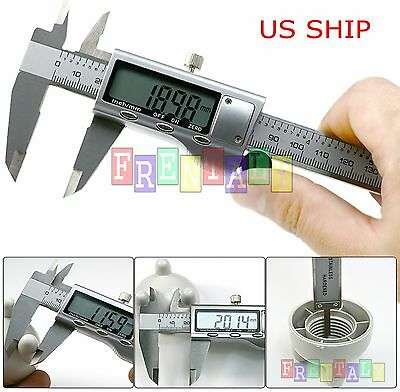 "6"" 150mm Stainless Steel Electronic Digital Vernier Caliper Micrometer Gauge LCD"