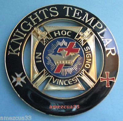 Grand York Rite Knights Templar Auto Cut out Car Emblem Freemasonry York Mason