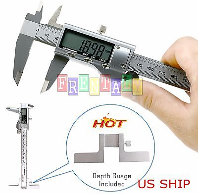 6 150mm Depth Gauge T Bar Stainless Steel Micrometer Electronic Digital Caliper