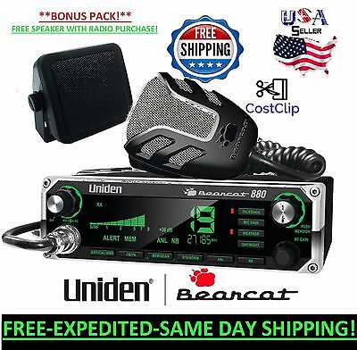 Uniden Bearcat 880 40 Channel Mobile CB Radio LCD DISPLAY HAM TUNED FREE SPEAKER