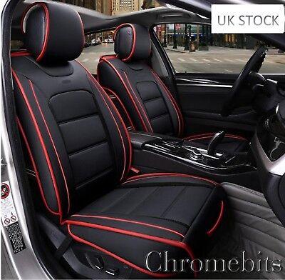 Deluxe Schwarz Front Sitzbezüge für Mercedes E C Klasse Schwarz Kunstleder
