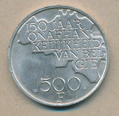 België/Belgique 500 Fr. Boudewijn 1980 Vl Morin 801 (120325)