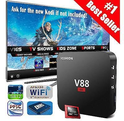 KODI/XBMC Quad Core Smart TV Box Android 5.1 Streaming Media Player Wifi 4K 3D