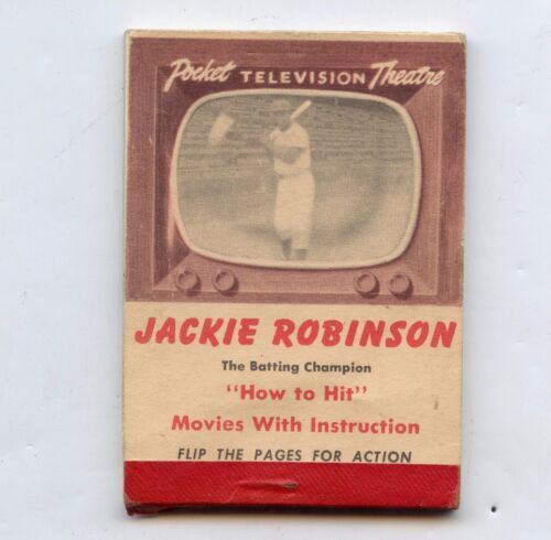 1950 Jackie Robinson Flip Movie Booklet Book Brooklyn Dodgers How To Hit