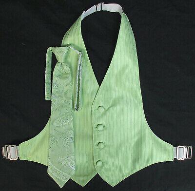 Mint Green Wedding (Boys Capri Mint Green Jean Yves Tuxedo Vest & Tie Set Paisley Wedding)