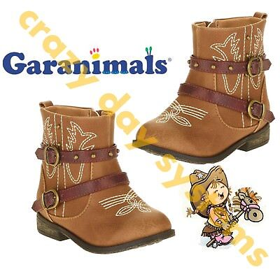 Garanimals Brown Cowgirl Cowboy Faux Leather Boots Size 4T - 6T  Toddler Girls](Girl Cowgirl)