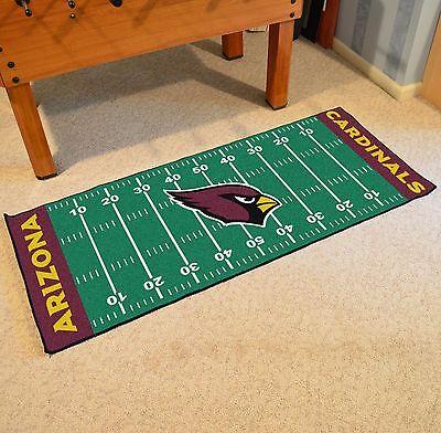 Cardinals Runner Mat - Arizona Cardinals NFL Football Field Runner Man Cave Area Rug Mat 29.5