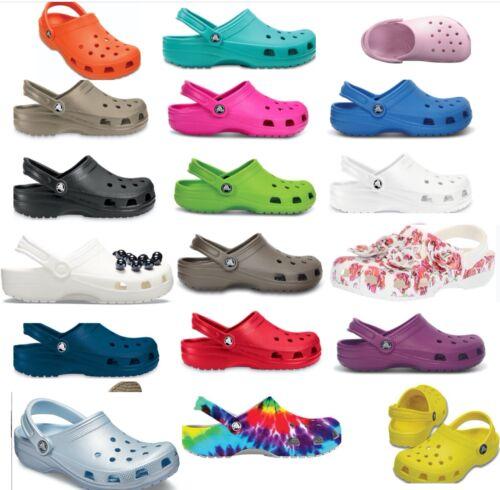 25 + colors, CROCS Original CLASSIC Clogs Shoes sandals sizes  2 -17, vegan