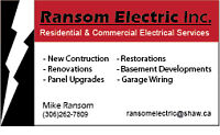 Trusted local electrical company - RANSOM ELECTRIC INC.