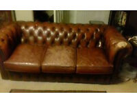 Leather Chesterfeild 3 seater couch