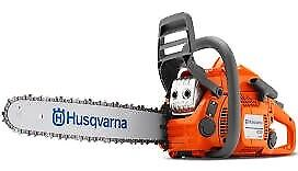 Husqvarna 435 41cc chainsaw FREE LITRE POWER2/CHAIN OIL/SPARE CHAIN/FILE KIT