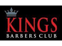 Kings Barbers Club Barber Wanted