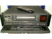 RARE FULLY WORKING VHS/VHSc PANASONIC NV-V8000 HIGH END VIDEO PLAYER/RECORDER
