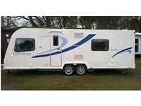 Bailey Pegasus 2 Bologna 4 berth 2011 twin axle caravan, full end shower room , fixed bed