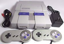 Super Nintendo snes and 2 controllers+ 5 games
