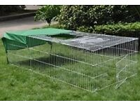rabbit run pen 72 inches lengh and 48 inches wide 24 inches high,