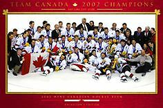 2002 Team Canada Men's Hockey Poster Framed:  Collectors Edition