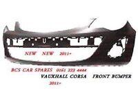 VAUXHALL CORSA D. FRONT BUMPER FACE LIFT. NEW. 2013. 2014