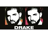 2X Drake tickets at 02 arena, 20th March. Gold circle standing