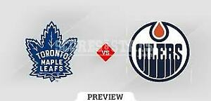 MAPLE LEAFS VS EDMONTON OILERS WED FEB 27TH PAIR OF RED