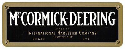 MCCORMICK-DEERING 1 1/2 HORSE VINYL STICKER (A071) 1 PAIR