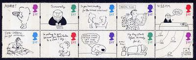 GB MNH Stamp Block 1996 GREETINGS CARTOONS SG 1905-1914