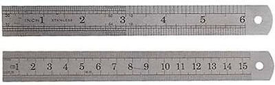 New 2 X Stainless Steel Ruler etched-on Standard metric rule *US FREE SHIPPING *