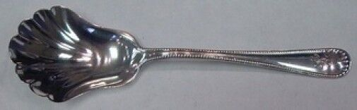 """Newcastle By Gorham Sterling Silver Preserve Spoon Scalloped 7 3/8"""""""