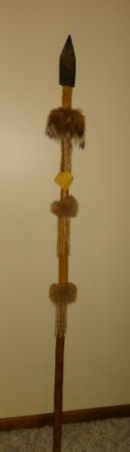 """Hope NATIVE American MADE Old Style War Lance and Spear 66"""" LONG"""