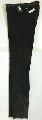 NWT INCOTEX Slowear Mens Stretch Pant 36W Flat Front Contemporary Fit Brown$450
