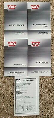 Warn Provantage 3000 Atvutv Winch Line Literature Pack - Owners Manual
