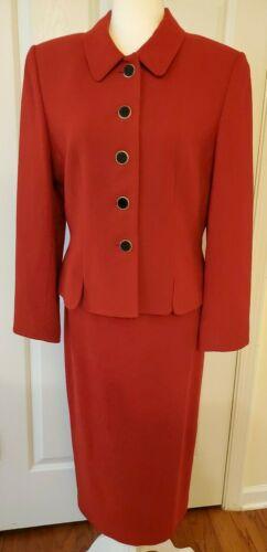 *Kasper ASL Red Skirt Suit-Size 10 -Excellent Condition!!!*