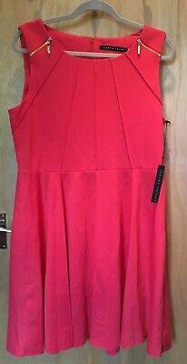 Ivanka Trump Sleeveless Pink Dress Pleat and Zip Detail Size UK16 BNWT