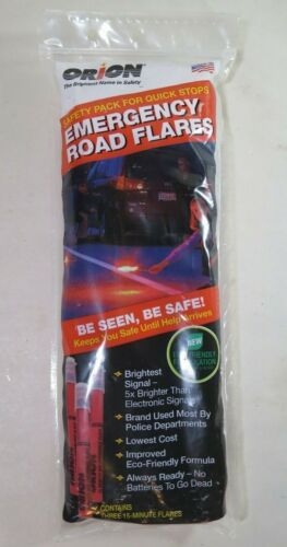 Orion Safety Products 3153-08 3-15 Minute Road Flares (1 Pack of 3 Flares) New