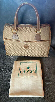 Vintage Gucci Beige Handbag And Dust Bag